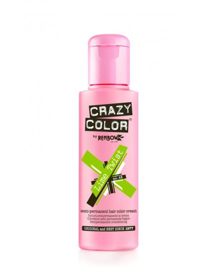 Coloration semi-permanente CRAZY COLOR 100ml - LIME TWIST