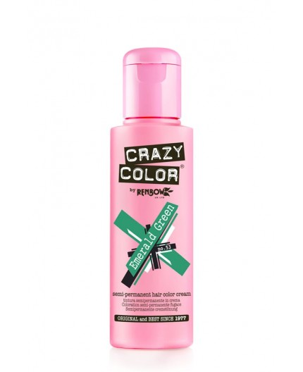 Coloration semi-permanente CRAZY COLOR 100ml - EMERALD GREEN